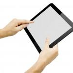 Holding iPad